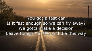 Jonas Blue ft. Dakota - Fast Car Lyrics