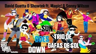 David Guetta & Showtek - Sun Goes Down ft. Magic! & Sonny Wilson - Mashup (trio de gafas de sol)