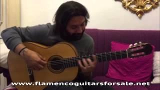 Josemi Carmona plays his new Manuel Reyes 1990 acquired in Solera Flamenca