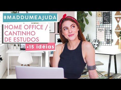 Dicas Home Office / escrivaninha / penteadeira #Maddumeajuda Decor
