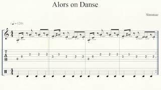 Guitar Tab - Piano - Alors on Danse - Intro