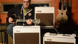 Vox White Bronco Limited AC-4 AC-10 AC-15 Amplifier Demo at Main Stage Music