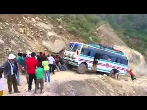 Trekking in Gosai Kunda NEPAL on bad Road