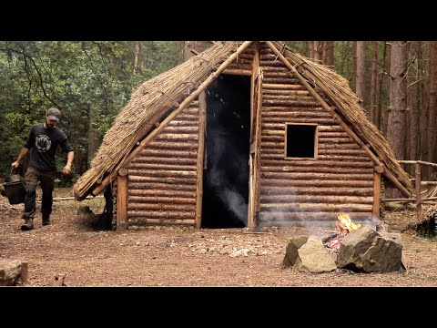 Building a Bushcraft Saxon House: Window Frames | Bushcraft Project (PART 13)