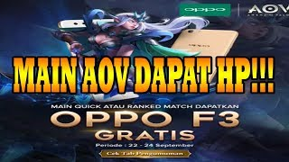 WOW!!!Main AOV Dapat HP 22-24 SEPTEMBER 2017-Arena Of Valor