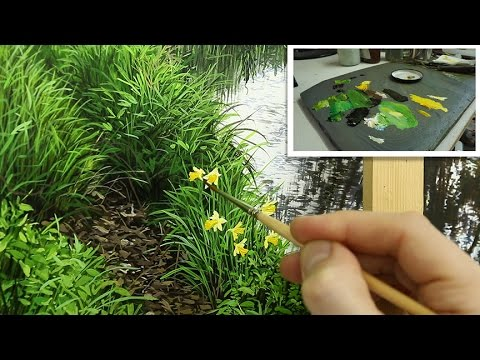 How To Paint Grass and Daffodils | Oil Painting Tutorial
