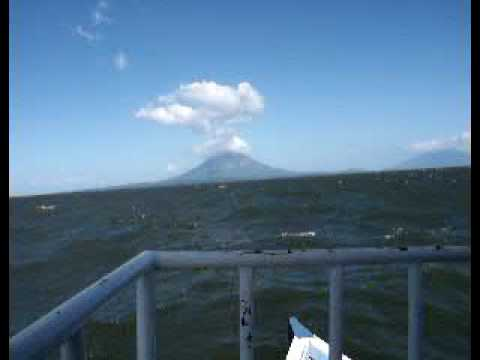 Traversing Nicaragua Lake in a ferry boat