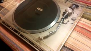 Restore Turntable Clear Dust Cover With Household Product Pioneer PL-255 Brasso
