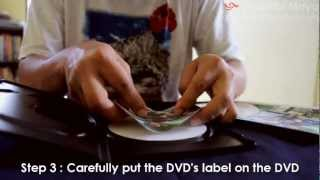 How to make DVD label/cover in less than 1 minute