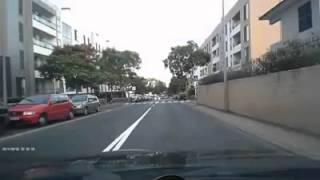Idiot causes accident on purpose