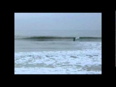Winter Surfing in Surf City Topsail Island NC - Eston