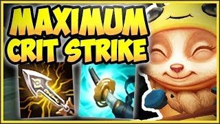 STOP PLAYING TEEMO WRONG! MAX CRIT STRIKE TEEMO IS 100% BUSTED! CRIT TEEMO TOP! - League of Legends
