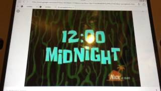 Spongebob time cards 12:00 midnight #20