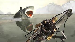Brody Kills the Beast - Jaws Scene Reenactment [HD] Bruce Shark Death Scene