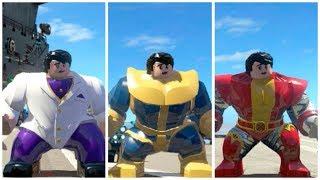 All Big-Fig characters perform Hulk transform animation (Part 2) - LEGO Marvel Superheroes