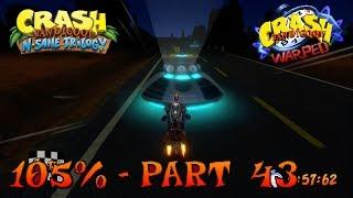 Crash Bandicoot 3 - N. Sane Trilogy - 105% Walkthrough, Part 43: Area 51? (Both Gems & Time Trial)
