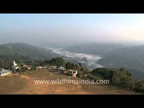 Mist covered hills of Mizoram