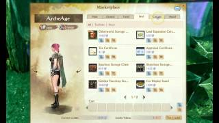 Archeage white wings costume + Pegasus RNG box removed 4/28/15