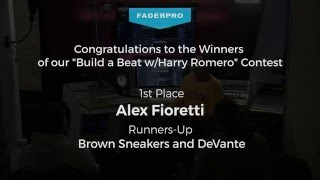 """Winners of our """"Build a Beat w/Harry Romero"""" Contest"""