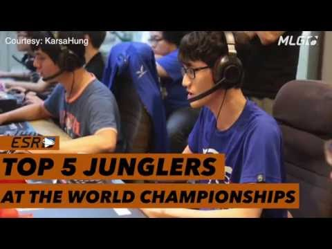 Top 5 Junglers at the League of Legends​ World Championships