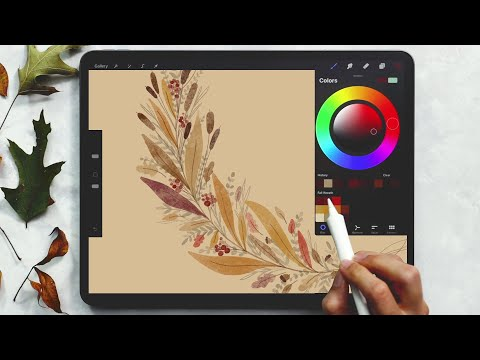 Paint a Fall Wreath in Procreate