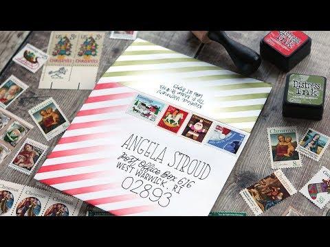 Super Easy DIY Mail Art with Masked Ink Blending