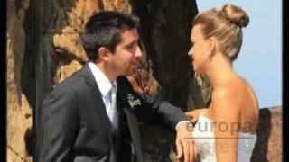 Álex Ubago radiante el día de su boda