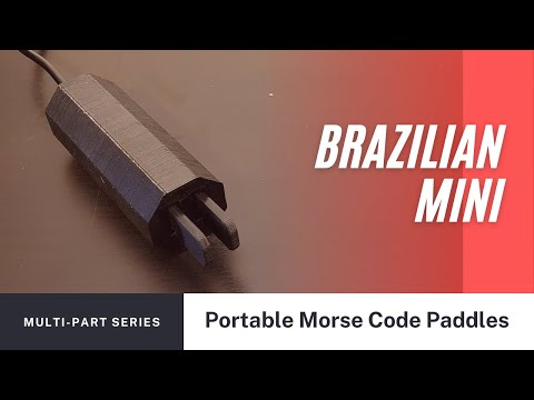 Portable Morse Code Paddle by Fabio PY2AGO
