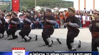 ALİAĞA'DA 23 NİSAN ÇOŞKUYLA KUTLANDI