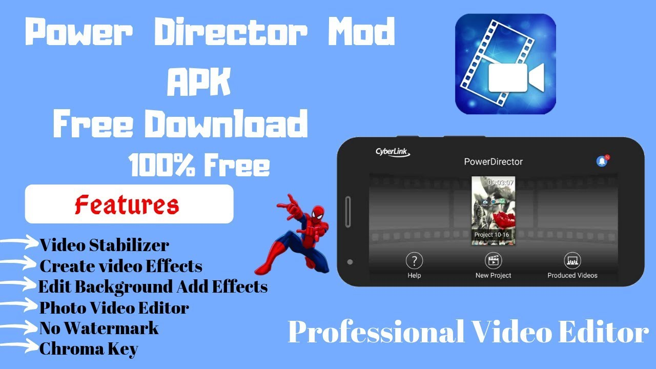 Download thumbnail for PowerDirector Mod Apk Free Download