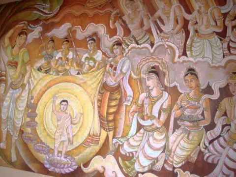 12 Prof  Juan Lázara descubre nuevas pinturas murales en  monasterio budista de Sri Lanka en Lumbini, Nepal, lugar de nacimiento de Buddha