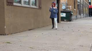 AJ walking with llwc 2