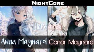 Nightcore - Havana (SING OFF vs  Anna Maynard) ( Mashup ) ( Lysric )