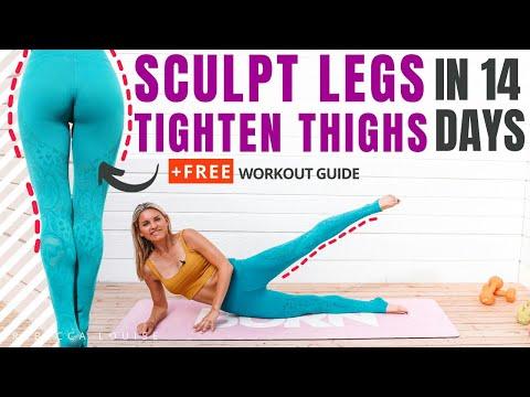 GLUTE GAINS & TIGHTEN THIGHS WORKOUT - SCULPT LEGS  | Rebecca Louise