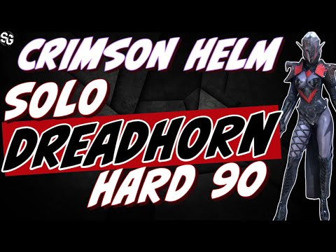 Dreadhorn 90 solo w/ Crimson Helm epic - 180speed - GET IT DONE - RAID SHADOW LEGENDS