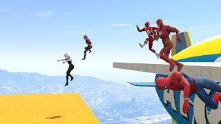 WIPEOUT OBSTACLES RUN CHALLENGE! - With All The SUPERHEROES (GTA 5 Funny Contest)
