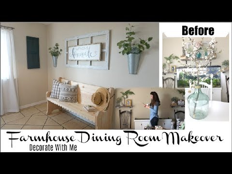 Dining Room Makeover | Decorate With Me Farmhouse Decor | Momma From Scratch