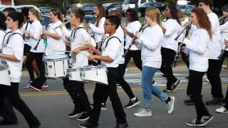 Live Drumming @ Grand Blanc Homecoming Parade with the Grand Blanc Middle School Bands