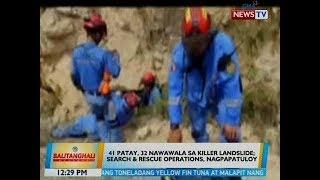 BT: 41 patay, 32 nawawala sa killer landslide sa Naga City, Cebu