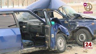 Двое водителей госпитализированы после серьёзного ДТП