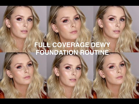 FULL COVERAGE DEWY FOUNDATION ROUTINE | RACHAEL BROOK
