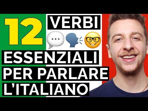 12 Verbi ESSENZIALI per parlare l'italiano (Sub ITA) | Imparare l'Italiano