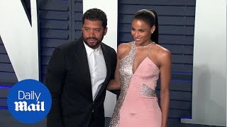Ciara glitters in pink at Vanity Fair bash with Russell Wilson
