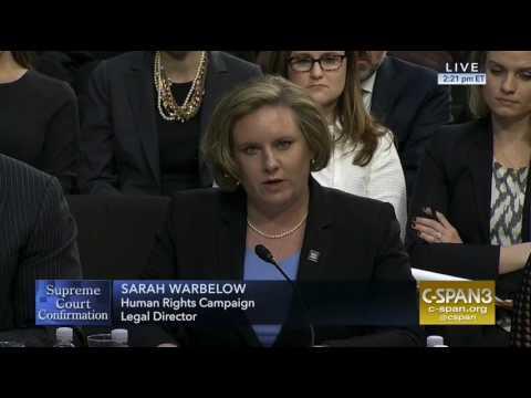 HRC's Legal Director Sarah Warbelow Testifies at Neil Gorsuch's SCOTUS Nomination Hearing