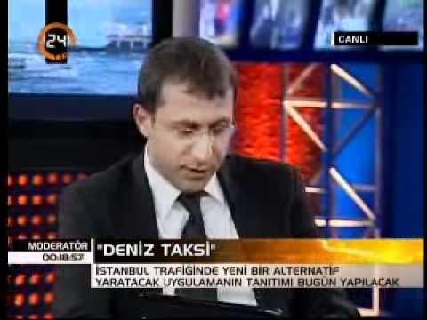 """TV 24 - Moderatör - İDO'nun """"Deniz Taksi"""" uygulaması. (21.05.2008)"""