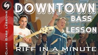 DOWNTOWN - Bass Tutorial with TAB - Riff In a MIniute - Macklemore