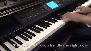Club Can't Handle Me - Flo Rida (feat. David Guetta) [Piano Cover] with LYRICS!