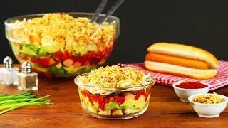 Deliciosa e fácil de comer: Salada de cachorro-quente