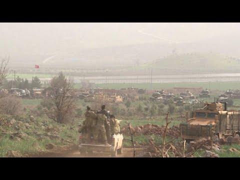 تركيا تكثف هجومها على الاكراد في عفرين شمال سوريا