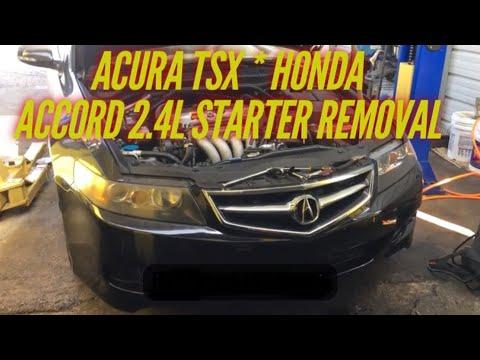 2006 Acura TSX/Honda Accord starter replacement